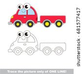 funny toy automobile with
