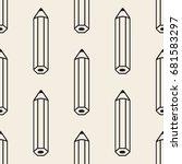 seamless monochrome pencil... | Shutterstock .eps vector #681583297