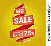 vector sticker  banner  label.... | Shutterstock .eps vector #681585007
