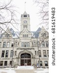 Small photo of Jasper County Courthouse in Rensselaer, Indiana. Rensselaer, Indiana, United States.