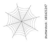 spider web illustration on white | Shutterstock .eps vector #681621247