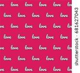 pink love vector pattern | Shutterstock .eps vector #681627043