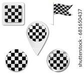 set of checkered flag icons for ... | Shutterstock .eps vector #681650437