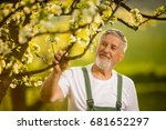portrait of senior man... | Shutterstock . vector #681652297