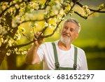 portrait of senior man...   Shutterstock . vector #681652297
