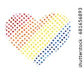 heart from bright dots on white ... | Shutterstock .eps vector #681656893