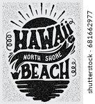 vector illustration hawaii ...   Shutterstock .eps vector #681662977