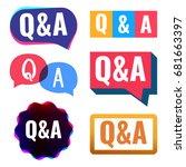 q a badge  icon  logo set