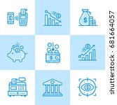 vector linear icons set of... | Shutterstock .eps vector #681664057