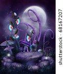 Night Scenery With Fairy Stone...