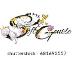 slogan vector t shirt... | Shutterstock .eps vector #681692557