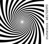 original hypnotic spiral in the ... | Shutterstock .eps vector #681702493