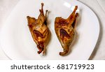 Top View To Two Quail With...