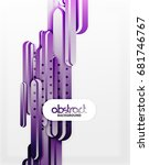 straight lines vector abstract... | Shutterstock .eps vector #681746767