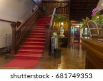 intirior of an old luxary hotel ... | Shutterstock . vector #681749353