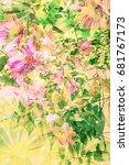 beautiful  artistic  floral ... | Shutterstock . vector #681767173