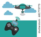drone game funny | Shutterstock .eps vector #681773773
