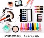 make up brush  perfume  eye... | Shutterstock . vector #681788107