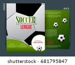 soccer event flyer template... | Shutterstock .eps vector #681795847