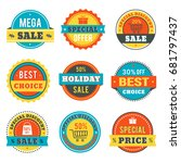 set of vector sale banners... | Shutterstock .eps vector #681797437
