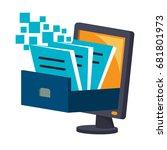 icon illustrations for digital... | Shutterstock .eps vector #681801973