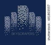 city skyscrapers | Shutterstock .eps vector #681803557