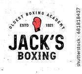 boxing  themed retro logo...   Shutterstock .eps vector #681818437