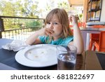 portrait of blonde caucasian... | Shutterstock . vector #681822697