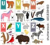 alphabet vector design with... | Shutterstock .eps vector #681838483