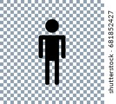 man icon on transparent... | Shutterstock .eps vector #681852427