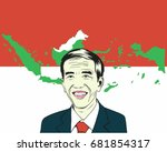 joko widodo  jokowi. president... | Shutterstock .eps vector #681854317