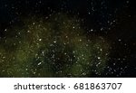 space painting stars void galaxy   Shutterstock . vector #681863707