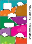 vector of a typical comic book... | Shutterstock .eps vector #681867907