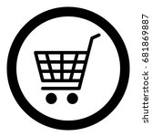 ecommerce icon  shopping cart ... | Shutterstock .eps vector #681869887