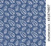 vector jeans background with... | Shutterstock .eps vector #681874807