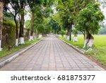 road in park | Shutterstock . vector #681875377