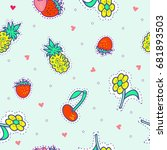 seamless pattern with... | Shutterstock .eps vector #681893503