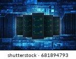 3d rendering database storage... | Shutterstock . vector #681894793