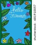 hello summer background.... | Shutterstock .eps vector #681910057