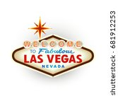 classic retro welcome to las... | Shutterstock .eps vector #681912253