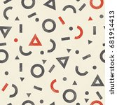 seamless abstract pattern in... | Shutterstock .eps vector #681914413