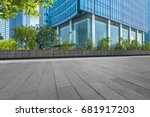 modern building and empty... | Shutterstock . vector #681917203