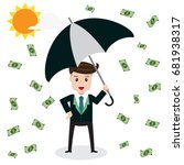 businessman hold umbrella... | Shutterstock .eps vector #681938317