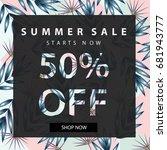 summer sale banner.summer sale... | Shutterstock .eps vector #681943777