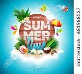 vector summer time holiday... | Shutterstock .eps vector #681988537