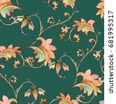 background with ornament.... | Shutterstock . vector #681995317