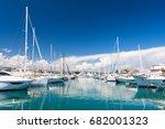 luxury marina in antibes on... | Shutterstock . vector #682001323