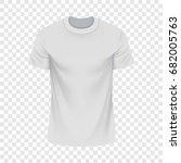 white tshirt mockup. realistic... | Shutterstock .eps vector #682005763