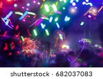 electric light concert party at ... | Shutterstock . vector #682037083