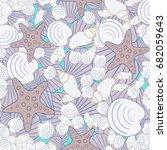 seamless sea background ... | Shutterstock .eps vector #682059643